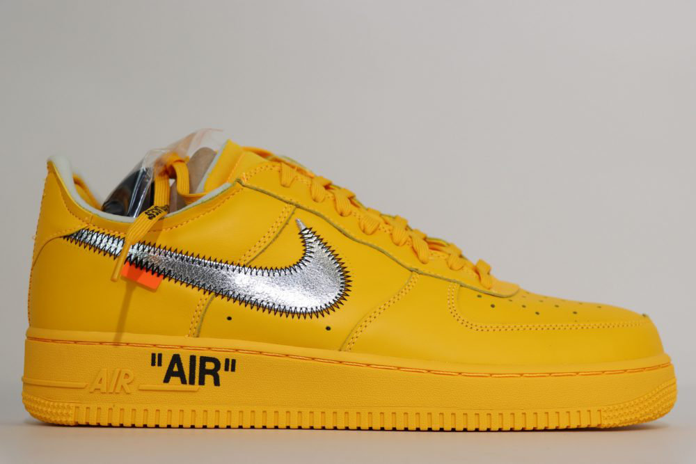 """Off-White x Nk Air Force 1 """"University Gold"""" Replica - HypeUnique"""
